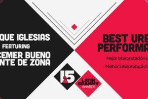 """El tema """"Bailando"""" de Enrique Iglesias, Descemer Bueno & Gente de Zona ganó el premio a """"Mejor performance urbano"""" Foto:Twitter/Latin Grammys. Imagen Por:"""