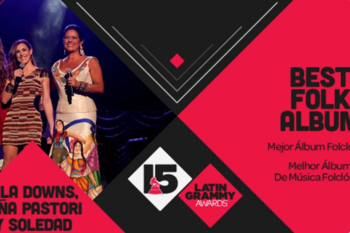 """Lila Downs, Niña Pastori y Soledad consiguieron el premio al """"Mejor álbum folclórico"""" con """"Raíz"""". Foto:Twitter/Latin Grammys. Imagen Por:"""