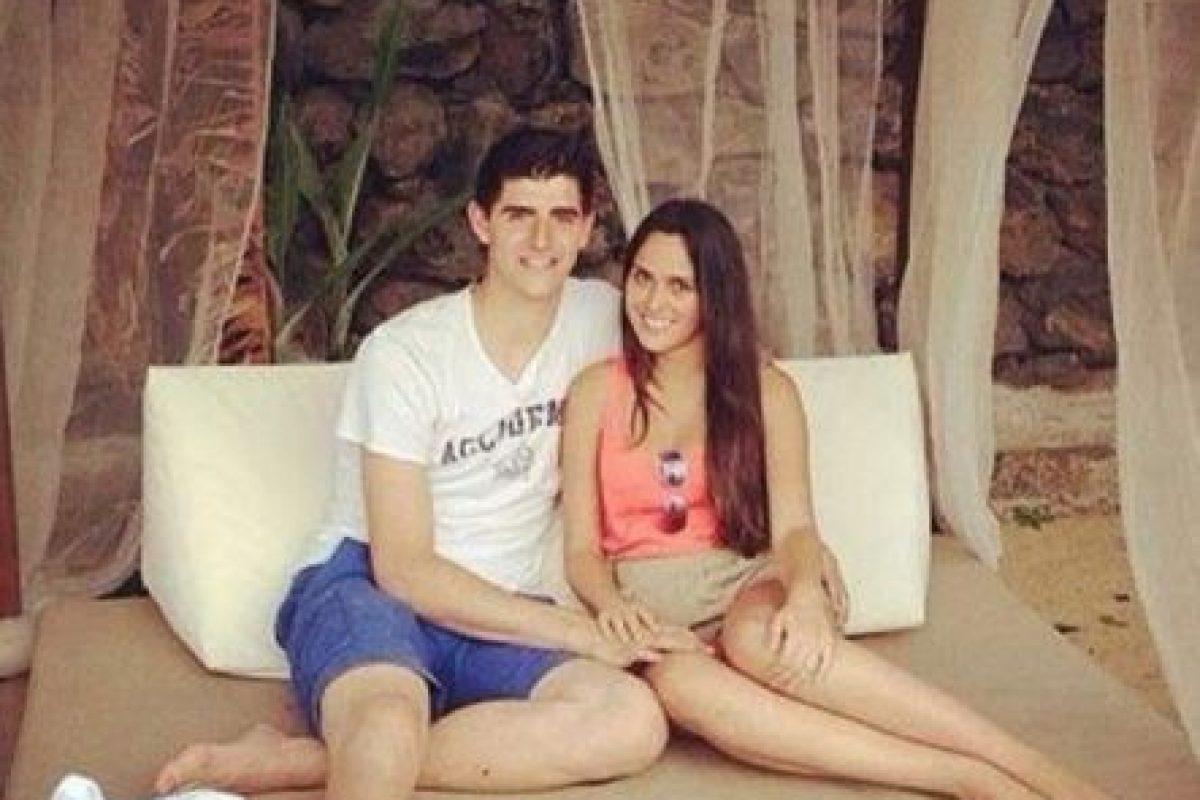 Thibaut Courtois y Martha Domínguez. Foto:Twitter. Imagen Por: