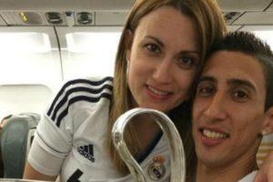 Jorgelina Cardoso y Ángel Di María. Foto:Twitter. Imagen Por: