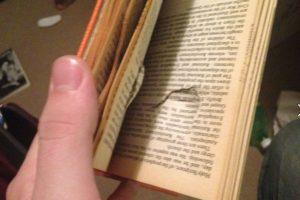 El libro paró la bala. Foto:Tomada de Facebook / Jason Derfuss. Imagen Por: