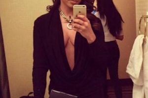 Annita, de Brasil. Sobria en negro. Foto:Twitter. Imagen Por:
