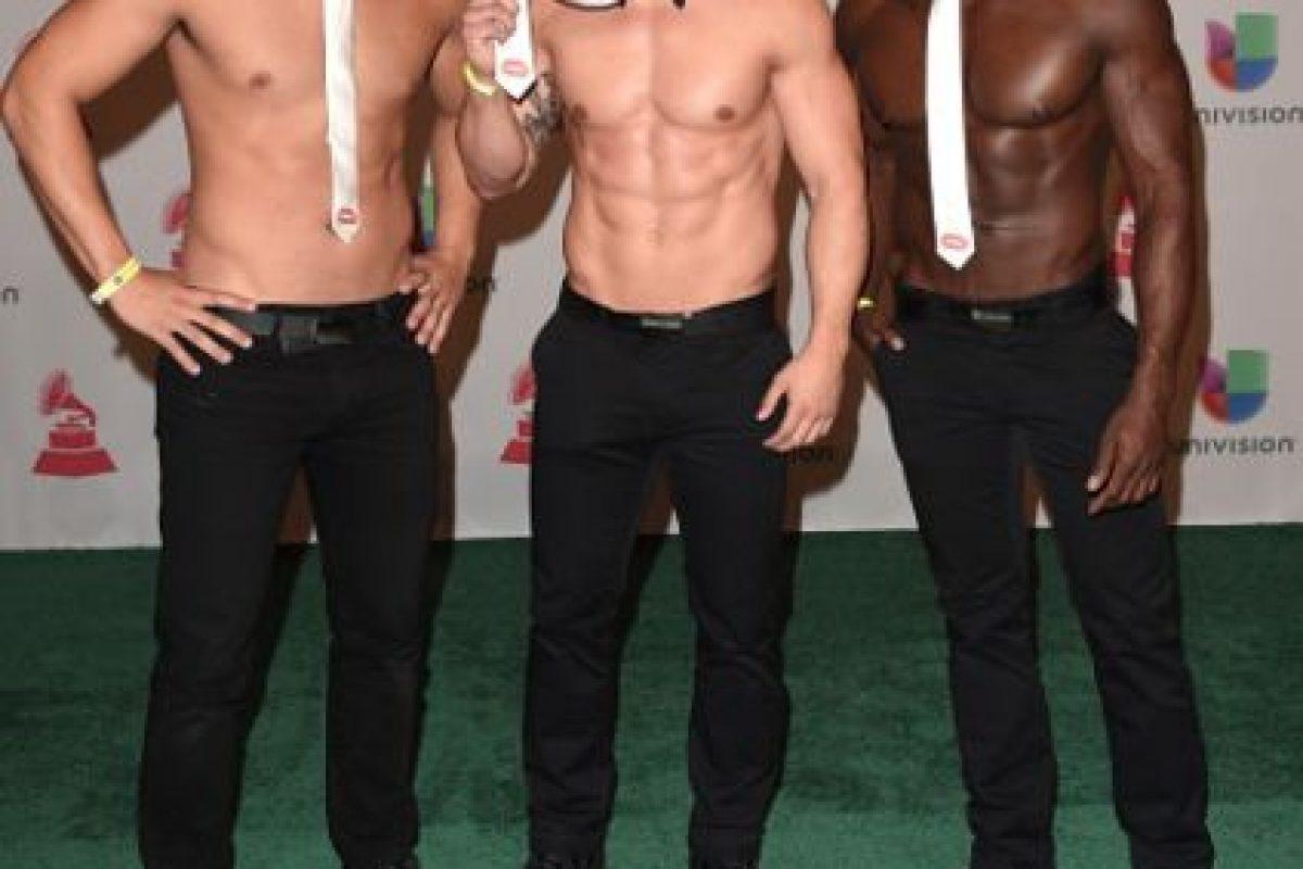 Keith Webb, Chaun Williams y Chris Boudreaux como strippers. Foto:Getty Images. Imagen Por: