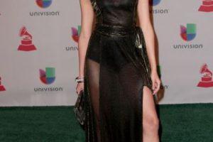 Verónica Montaño, con un vestido negro desfavorecedor Foto:Getty Images. Imagen Por: