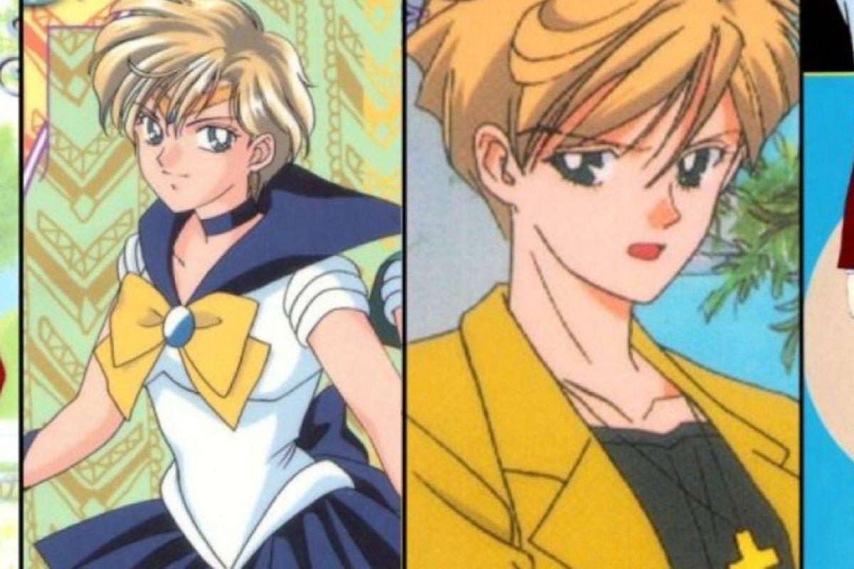 Haruka se viste como hombre, es Sailor Urano. Foto:Toei. Imagen Por: