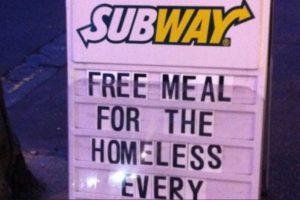 Subway hace esto Foto:Tumblr. Imagen Por: