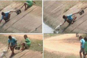 Estos dos niños rescatan a un perro Foto:Tumblr. Imagen Por: