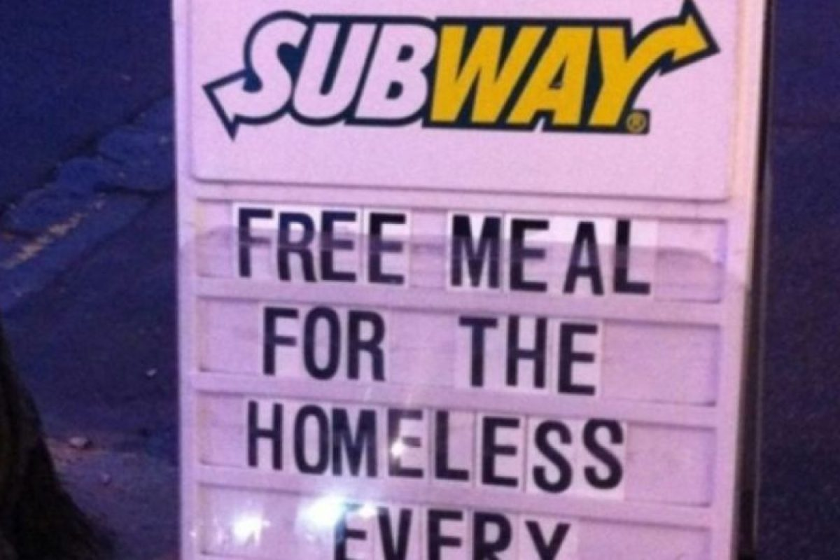 Subway alimenta a los necesitados Foto:Tumblr. Imagen Por: