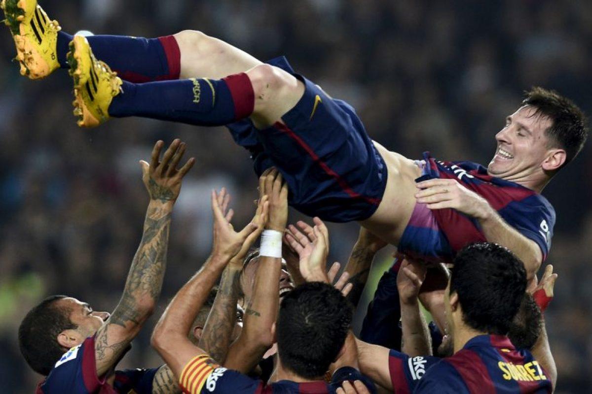 El argentino llegó a los 253 goles en la Liga española Foto:AFP. Imagen Por: