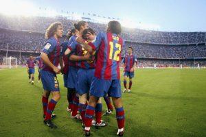 Celebrando el primer gol oficial que anotó con el Barcelona. El 1 de mayo de 2005 ante el Albacete Foto:Getty Images. Imagen Por: