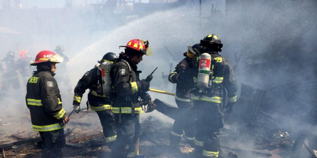 Incendio en agrícola de Peñablanca dejó un bombero lesionado y 45 trabajadores cesantes