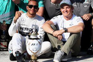 En 2013, y ya defendiendo a Mercedes, solo se impuso en el GP de Hungría. Esta fue la temporada más floja, en cuanto a triunfos, de su carrera Foto:Getty Images. Imagen Por: