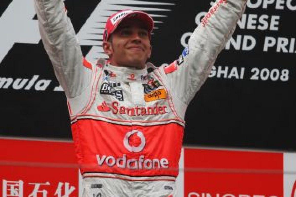 El 19 de octubre de 2008 Hamilton se quedó con el GP de China Foto:Getty Images. Imagen Por: