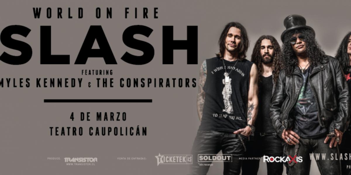 Slash regresa a Chile: Confirma concierto para marzo de 2015