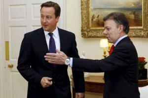 Juan Manuel Santos: 2010, como presidente electo de visita al Primer Ministro David Cameron Foto:Getty Images. Imagen Por: