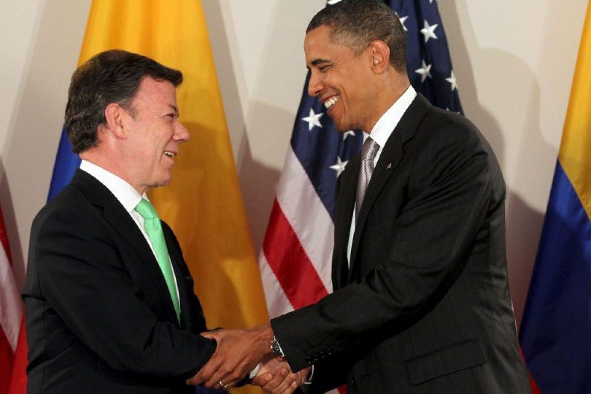 Juan Manuel Santos: En su primera reunión oficial con Barack Obama Foto:Getty Images. Imagen Por: