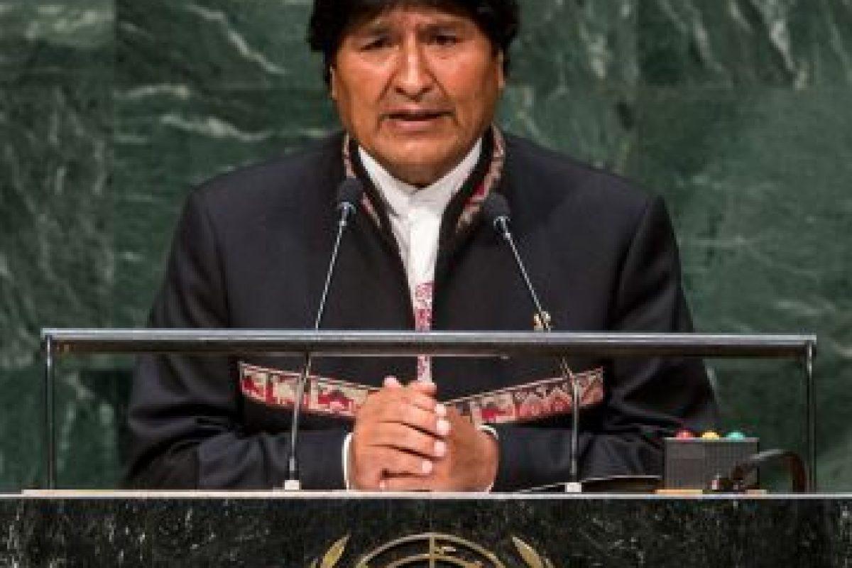 Evo Morales: 2014, en la Asamblea General de las Naciones Unidas Foto: Getty Images. Imagen Por: