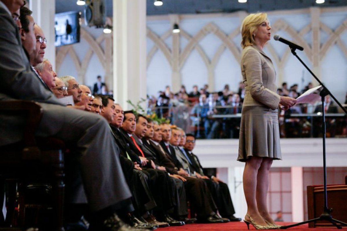 Evelyn Matthei, ex candidata presidencial que enfrentó a Michelle Bachelet en las pasadas elecciones. Foto:Agencia UNO. Imagen Por: