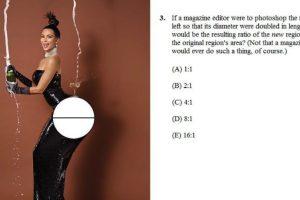 Problemas matemáticos inspirados en el trasero de Kim Kardashian Foto:Twitter/CatalystPrep. Imagen Por: