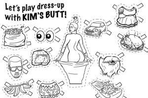 El diseñador Will Varner creó este juego para iluminar, recortar y vestir a Kim Foto:Instagram/Willvarnerart. Imagen Por: