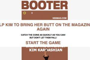 """""""Booter"""" es el juego en línea inspirado en el trasero de Kim Foto:Booter. Imagen Por:"""