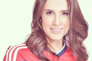 Así se veía antes, con la camiseta de la selección Colombia Foto:Instagram/Daniela Ospina. Imagen Por:
