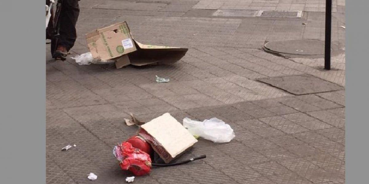 Extintor sospechoso en Bilbao con Pedro de Valdivia provoca cierres de calles y moviliza al GOPE de Carabineros
