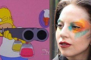 ¿Quién te maquilló, Gaga? Foto:Twitter. Imagen Por: