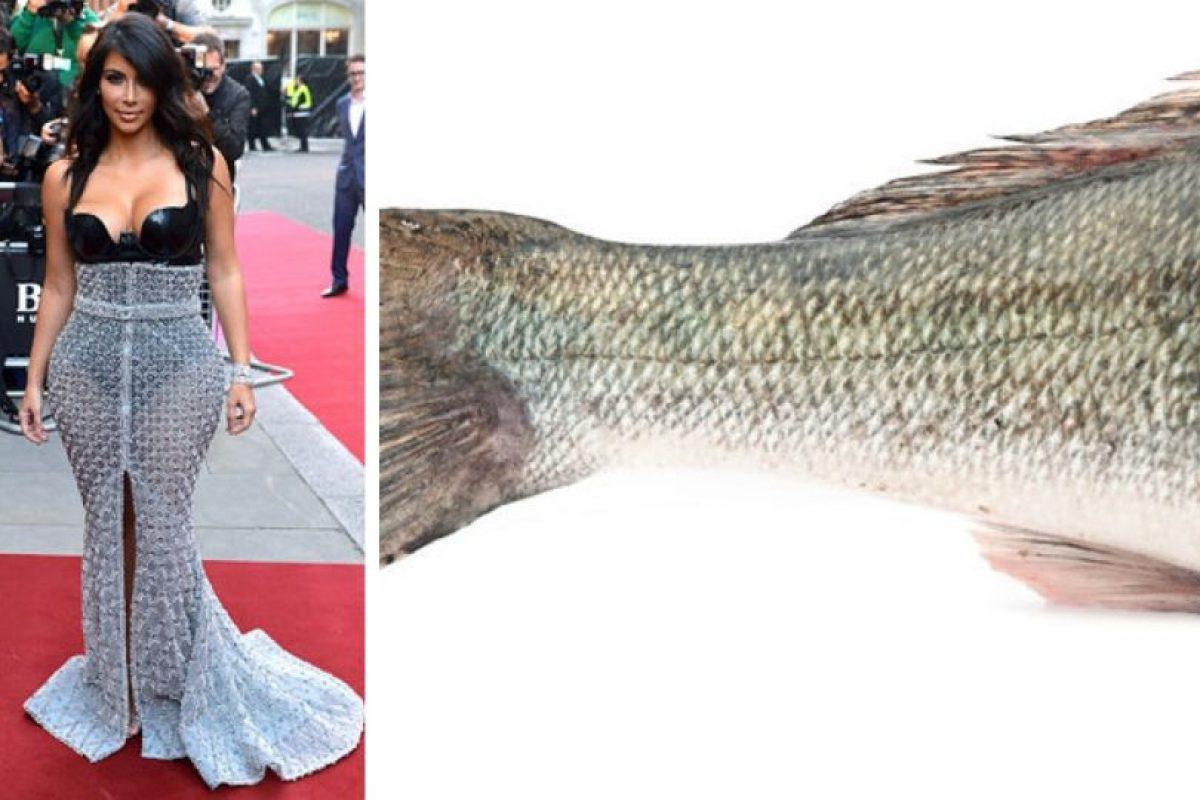 Kim Kardashian es toda una cola de pez Foto:Twitter. Imagen Por: