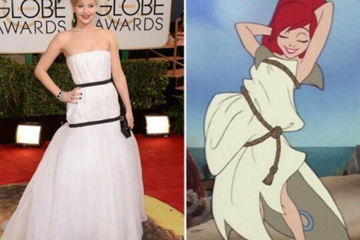 Jennifer Lawrence, qué lindo vestido. Foto:Twitter. Imagen Por:
