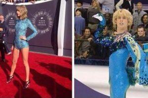 Taylor participa en esta película como patinador artístico. Foto:Twitter. Imagen Por: