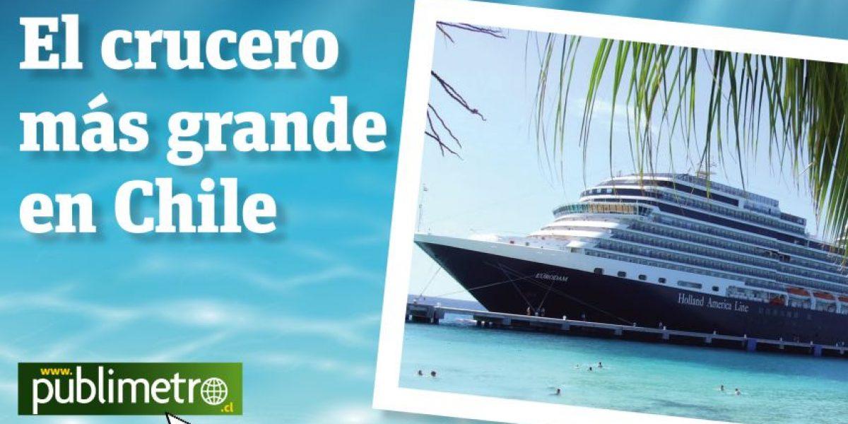[INFOGRAFÍA] Conoce el crucero más grande que llegó a Chile