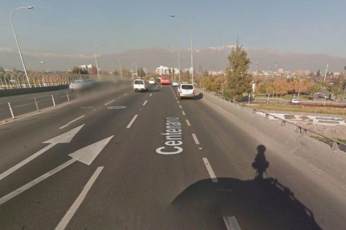 Así es la vista actual de este lugar de Santiago.. Imagen Por: