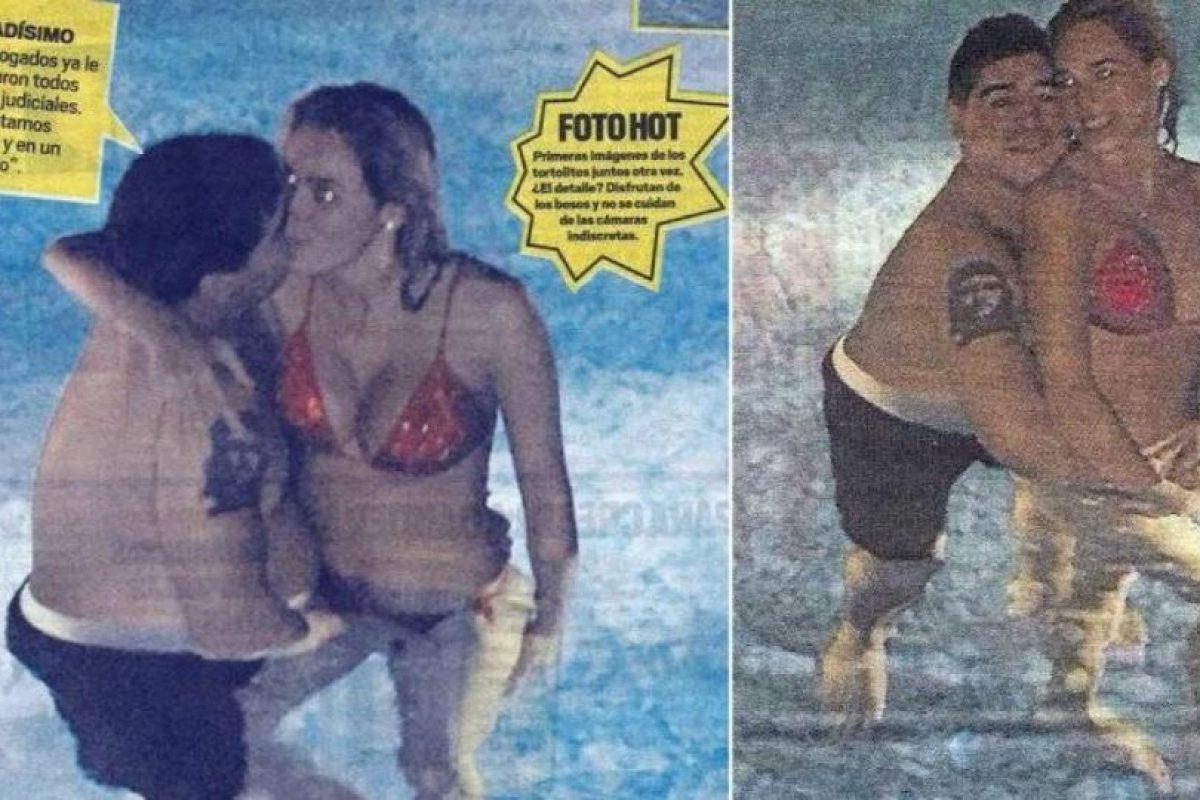 Las fotos de Maradona con su novia Rocío Oliva. Foto:Muy. Imagen Por:
