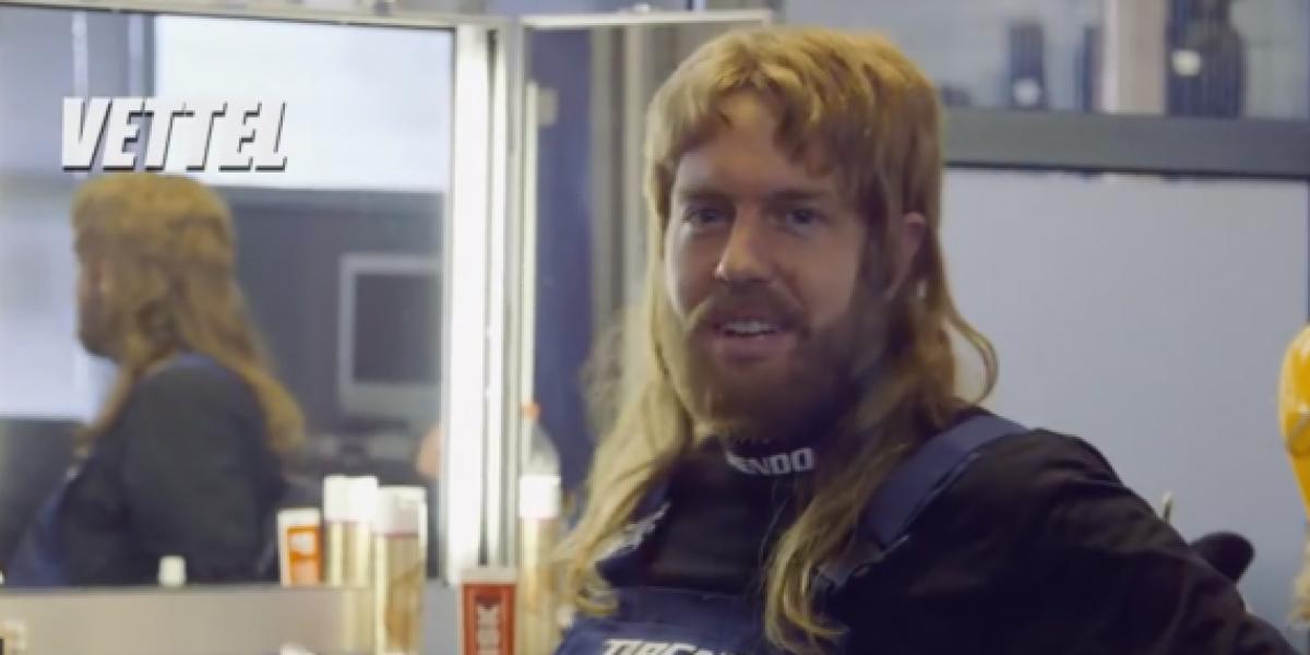 Sebastian Vettel se viste de mecánico y aterroriza a la gente