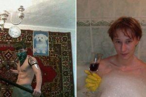 En la bañera como todo un lord Foto:TeamJimmyJoe. Imagen Por: