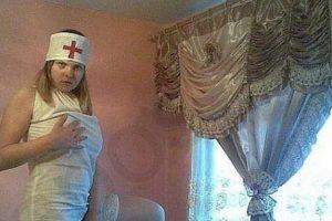 La enfermera más sugerente del mundo. Foto:TeamJimmyJoe. Imagen Por: