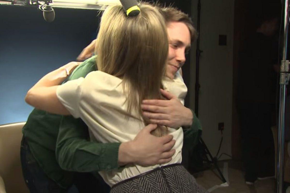 Chris Stark y Jennifer Aniston Foto:BBC Radio 1. Imagen Por: