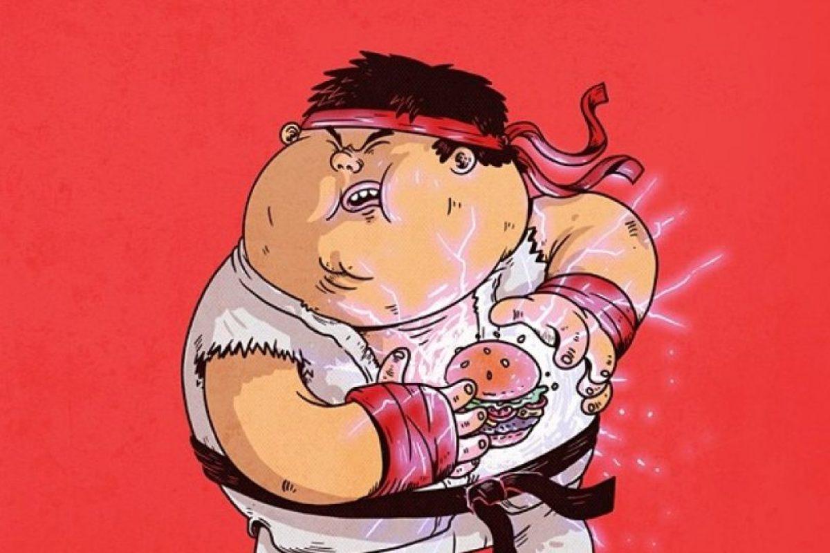 Iconos de la cultura pop con obesidadRyu Foto:Alex Solis. Imagen Por:
