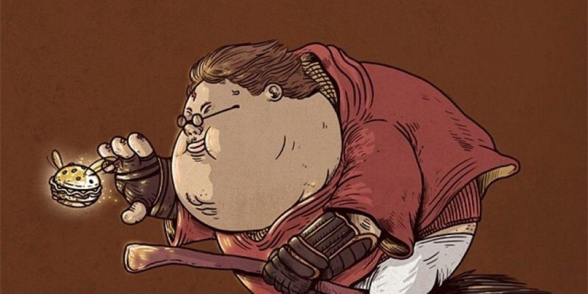 FOTOS: Así serían Gokú, Batman y Harry Potter si fueran obesos