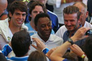 Los futbolistas Kaká, Pelé y Beckham. Foto:Getty Images. Imagen Por: