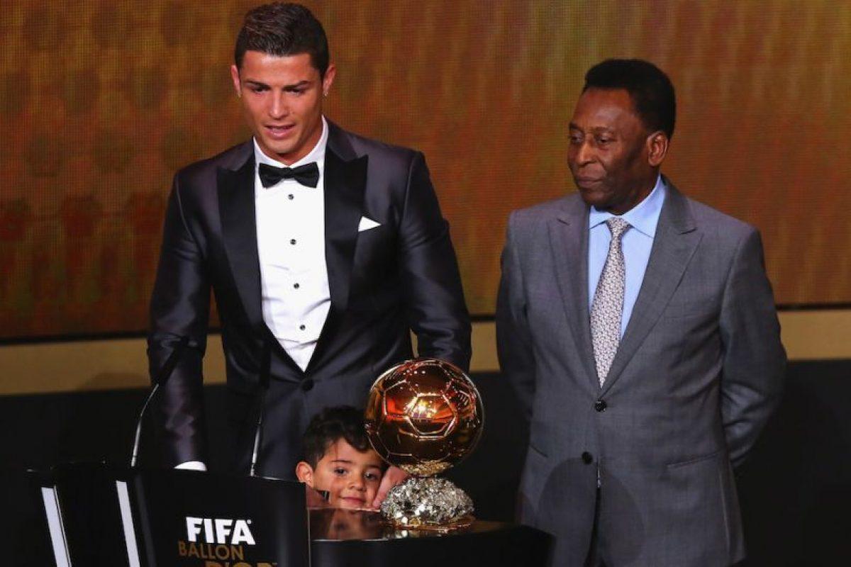 Cristiano Ronaldo y su hijo junto a Pelé. Foto:Getty Images. Imagen Por:
