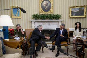 Junto al presidente de Estados Unidos, Barack Obama Foto:Getty Images. Imagen Por: