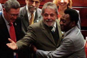 El expresidente braiseño Luiz Inácio Lula da Silva y Pelé. Foto:Getty Images. Imagen Por:
