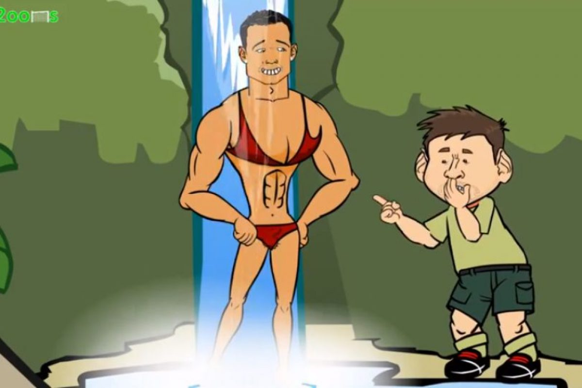 Messi ve a Ronaldo en bikini Foto: Youtube: FREEbets. Imagen Por: