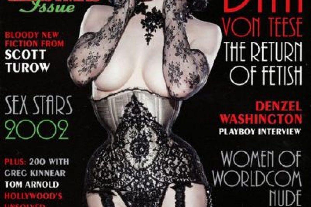 2002, Dita Von Teese Foto:Playboy. Imagen Por: