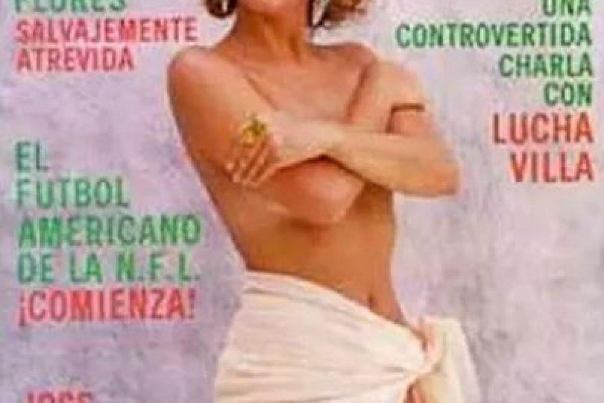 1991, Laura Flores Foto:Playboy. Imagen Por: