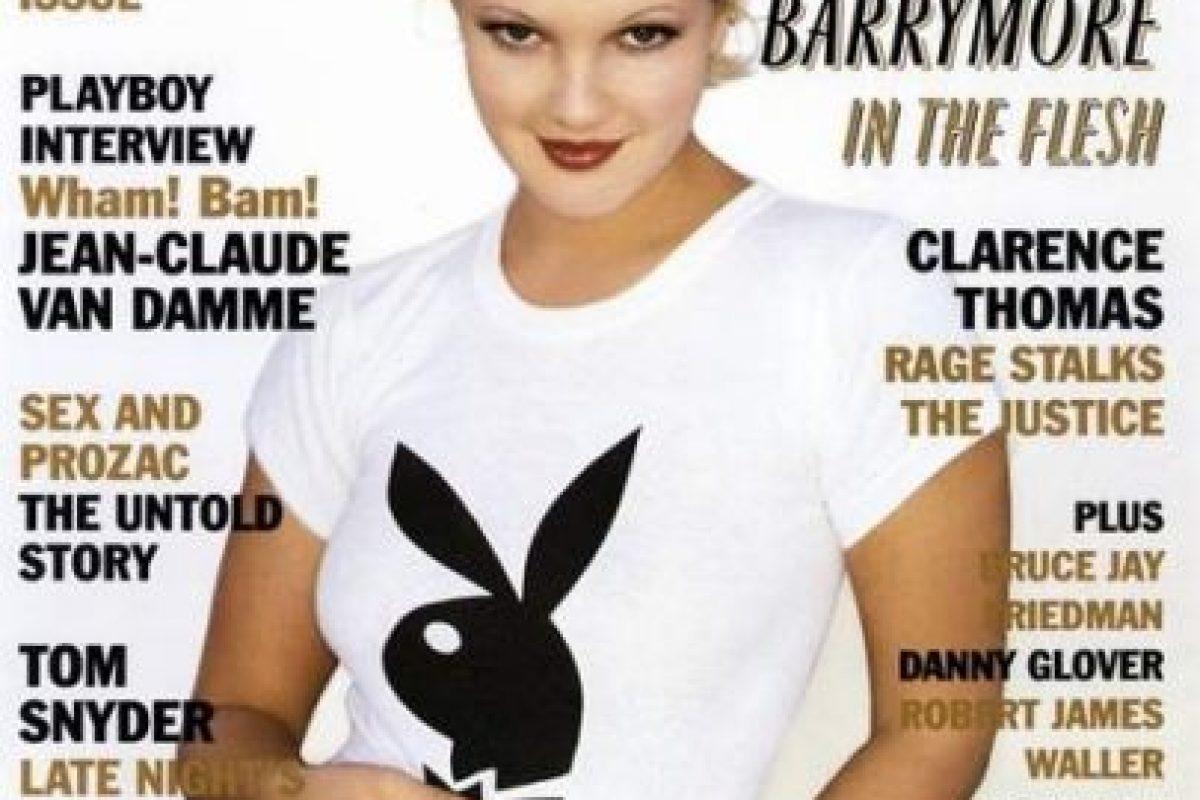 1995, Drew Barrymore Foto:Playboy. Imagen Por: