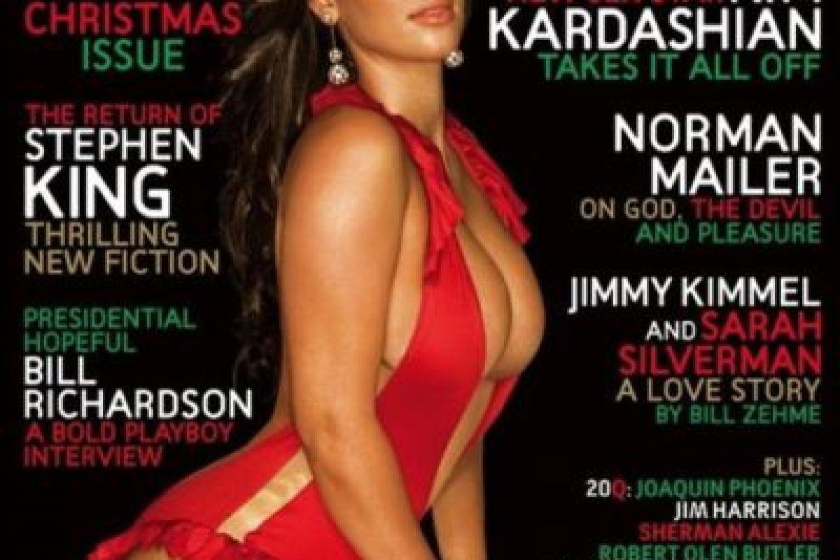 2007, Kim Kardashian Foto:Playboy. Imagen Por: