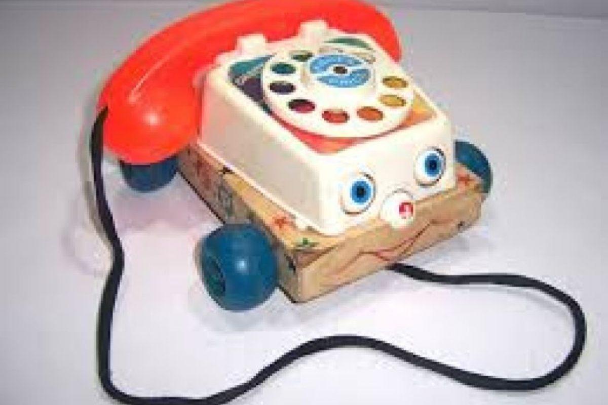 El teléfono de juguete, con su característico sonido y sus rueditas. Foto:Reproducción. Imagen Por:
